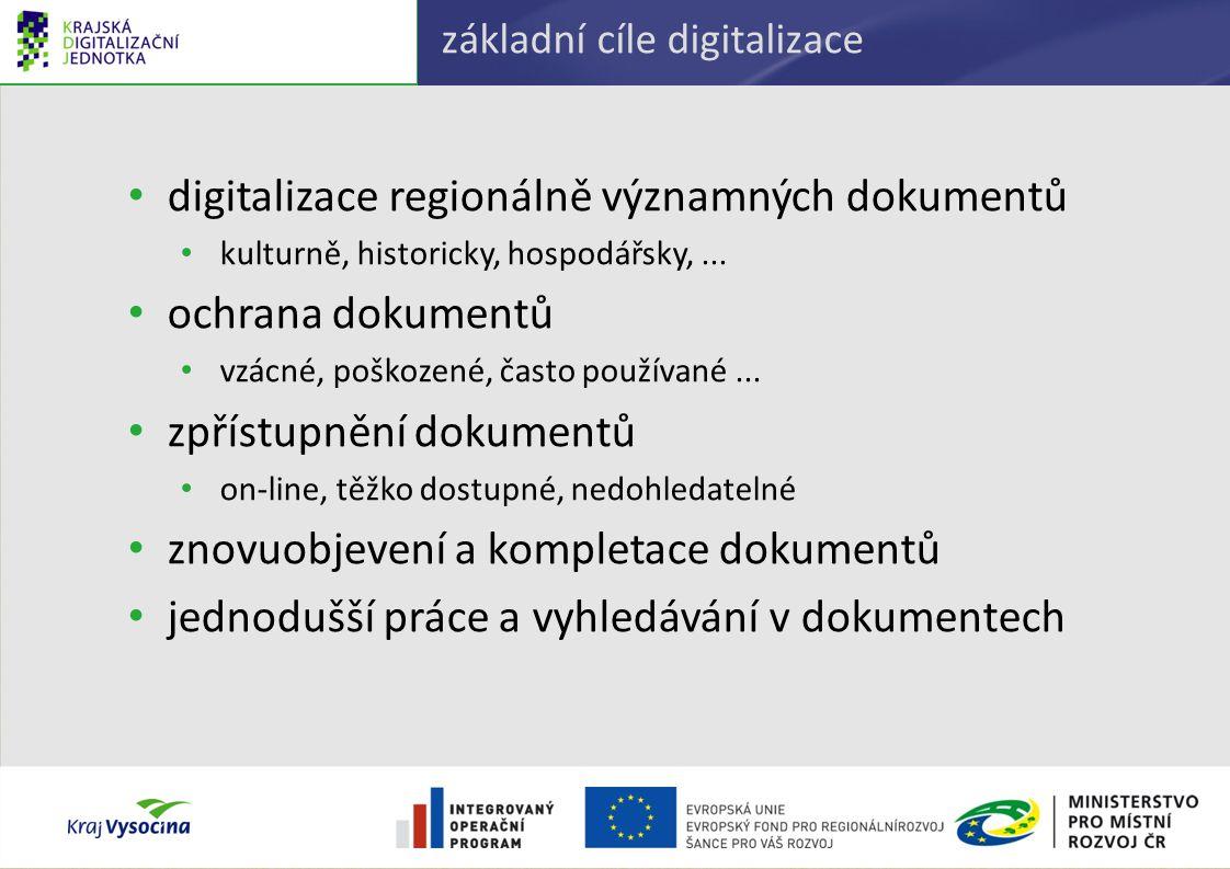 základní cíle digitalizace