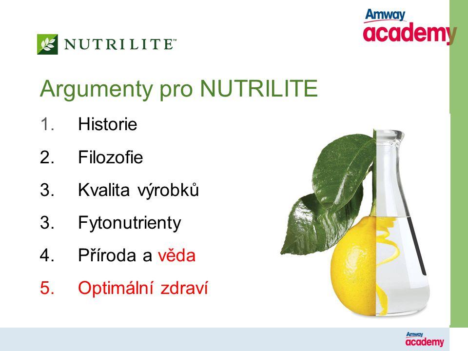 Argumenty pro NUTRILITE