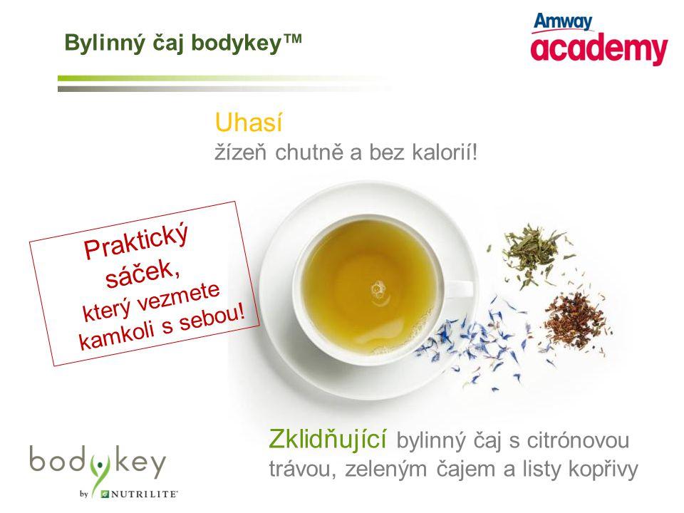 Bylinný čaj bodykey™ Uhasí. žízeň chutně a bez kalorií! Praktický. sáček, který vezmete. kamkoli s sebou!