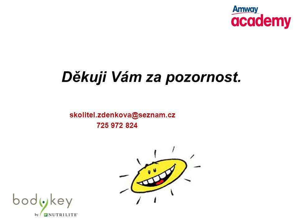 Děkuji Vám za pozornost. skolitel.zdenkova@seznam.cz