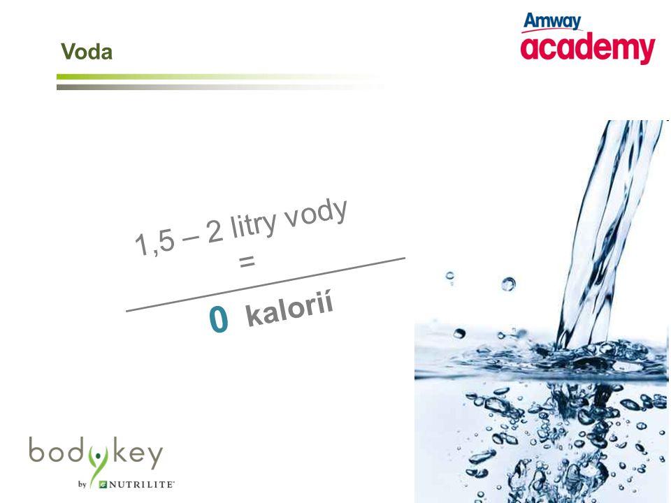 0 kalorií 1,5 – 2 litry vody = _________________ Voda