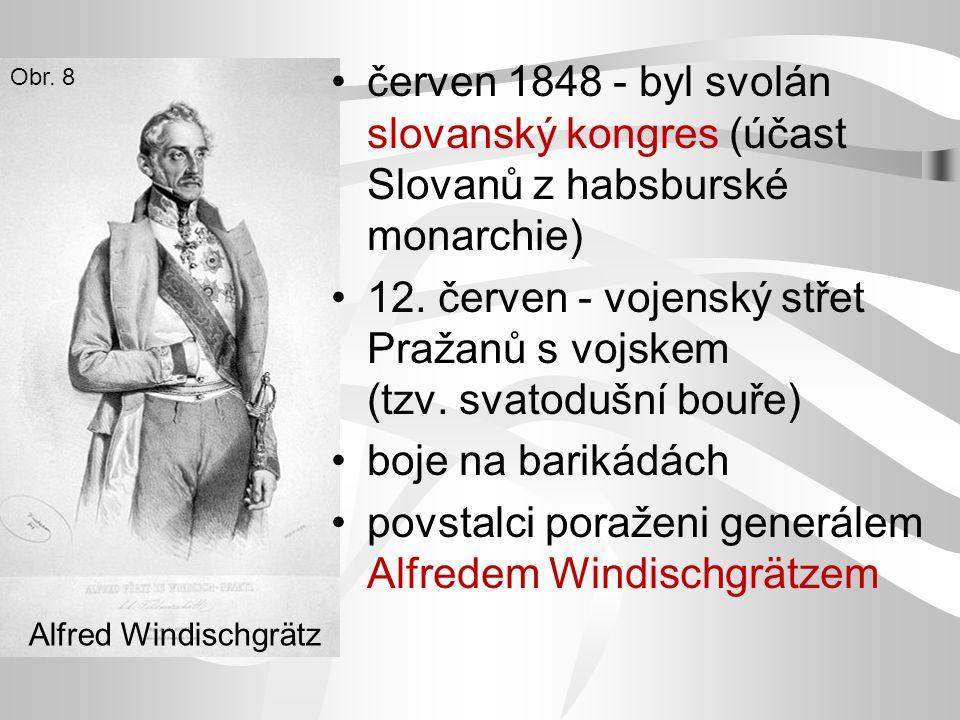 12. červen - vojenský střet Pražanů s vojskem (tzv. svatodušní bouře)
