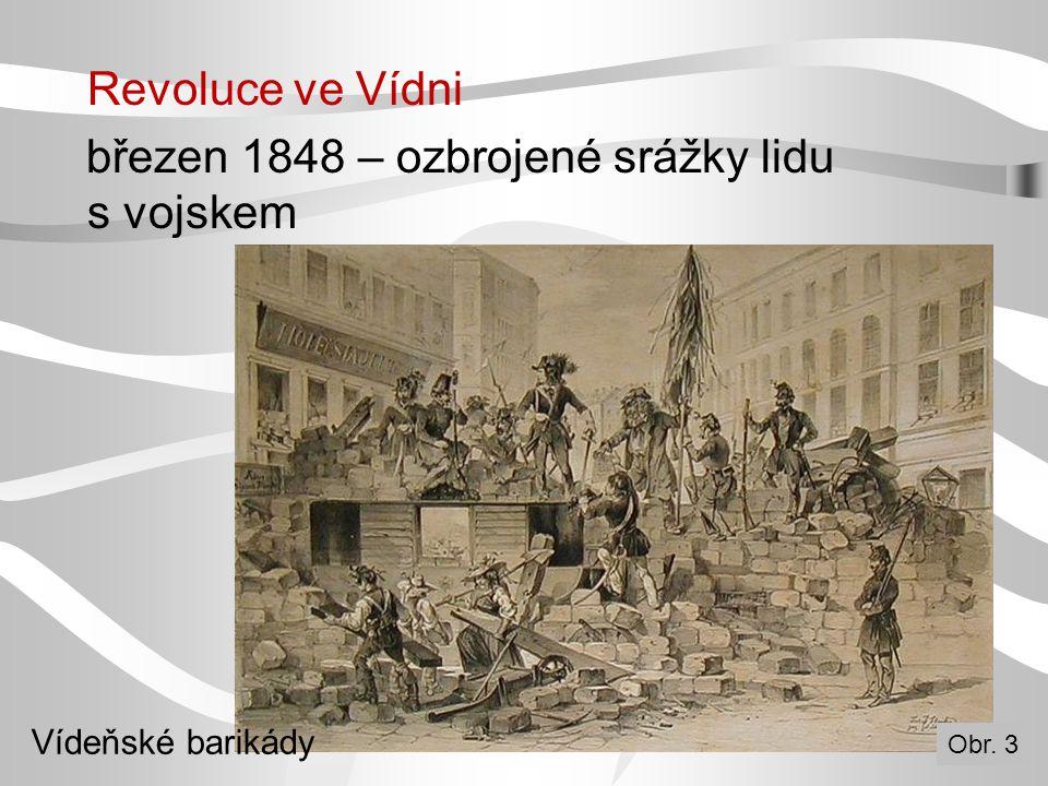 březen 1848 – ozbrojené srážky lidu s vojskem