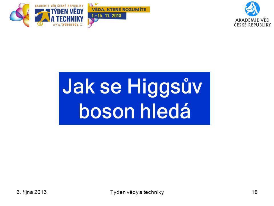 Jak se Higgsův boson hledá