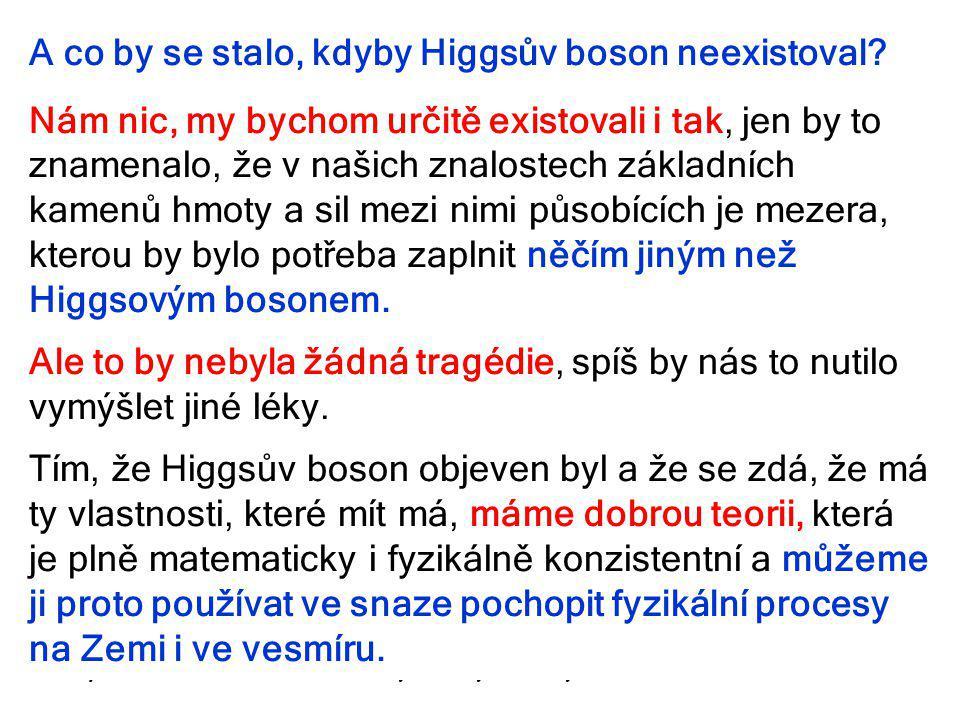 A co by se stalo, kdyby Higgsův boson neexistoval