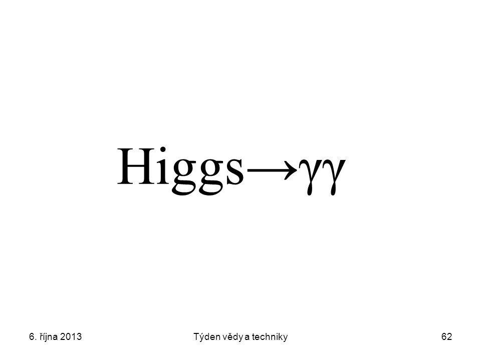 Higgs→γγ 6. října 2013 Týden vědy a techniky