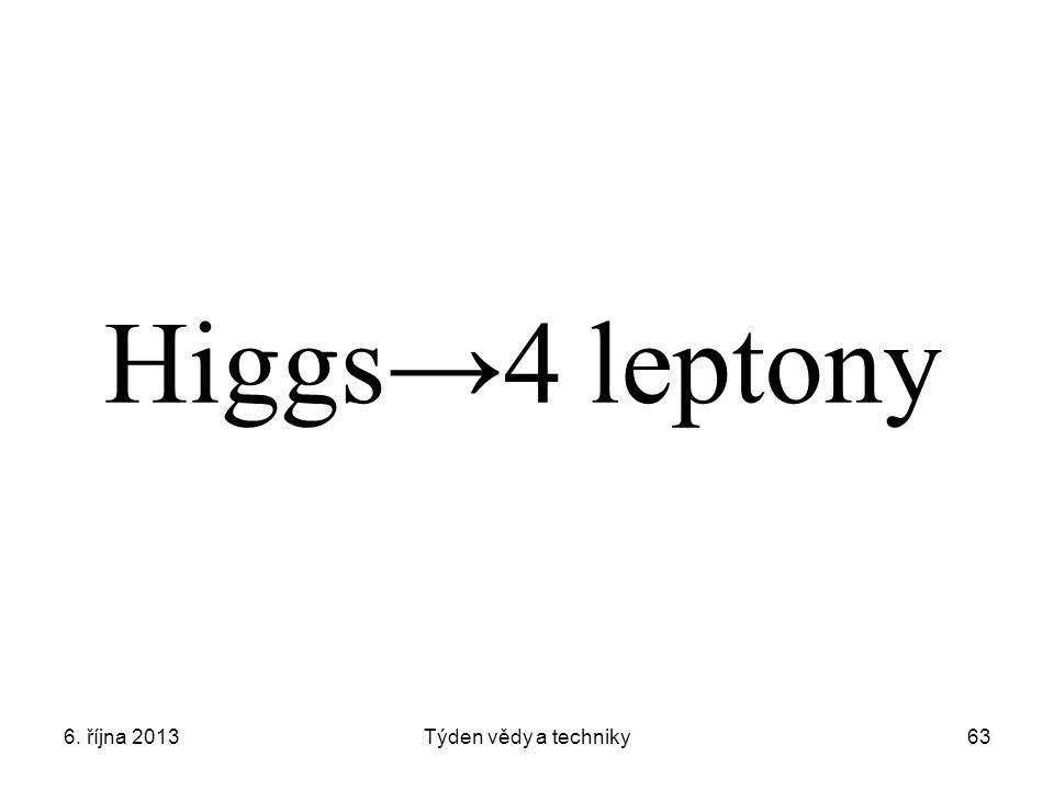 Higgs→4 leptony 6. října 2013 Týden vědy a techniky