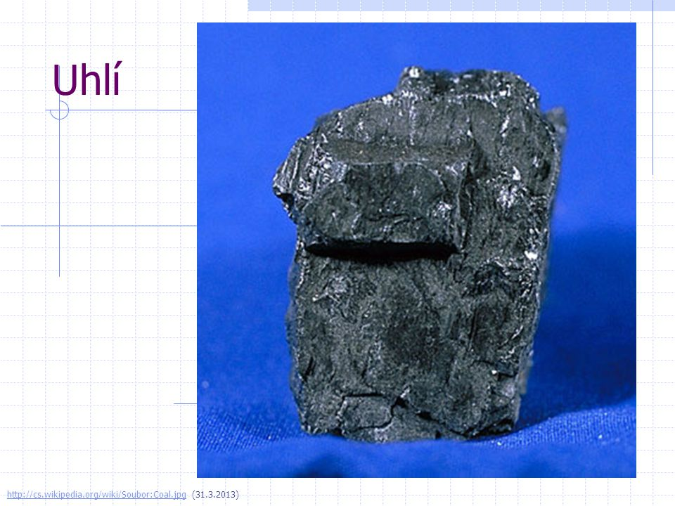 Uhlí http://cs.wikipedia.org/wiki/Soubor:Coal.jpg (31.3.2013)