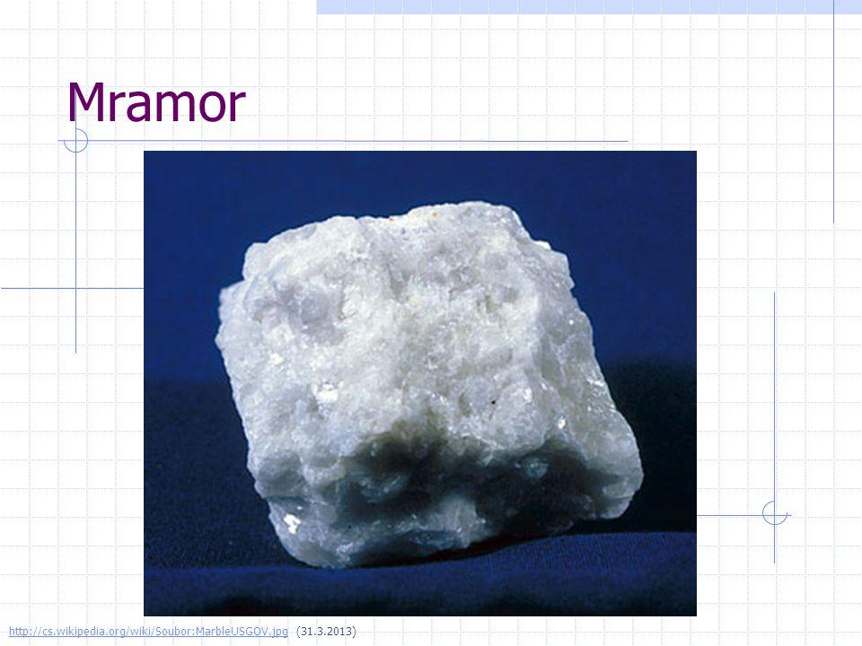 Mramor http://cs.wikipedia.org/wiki/Soubor:MarbleUSGOV.jpg (31.3.2013)