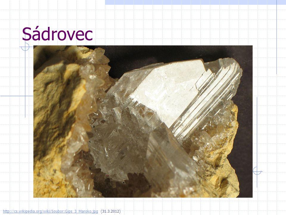 Sádrovec http://cs.wikipedia.org/wiki/Soubor:Gips_3_Maroko.jpg (31.3.2012)