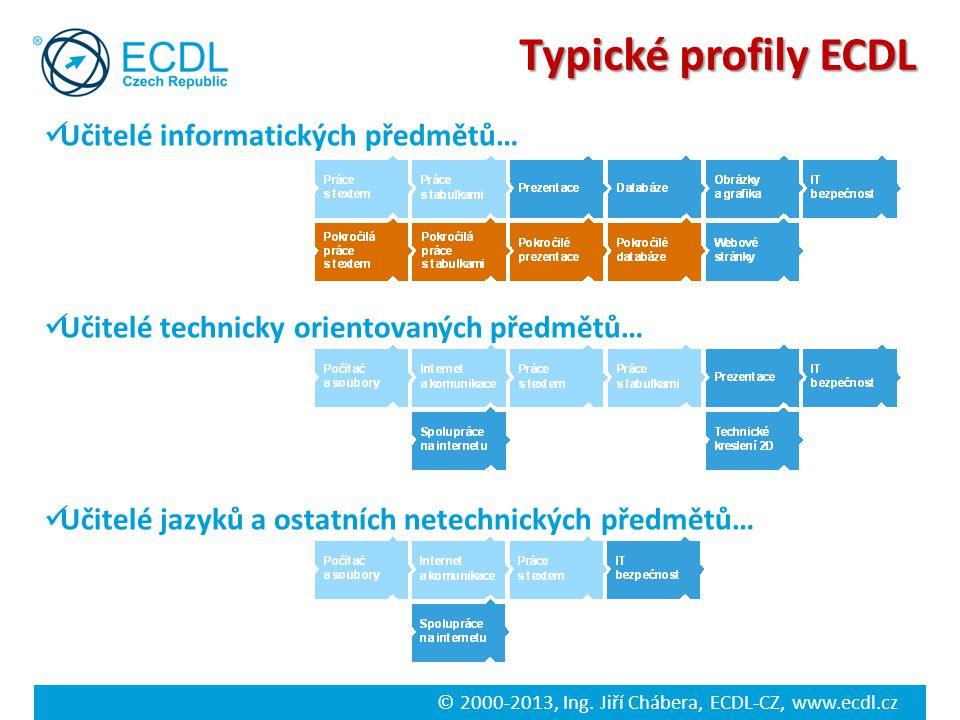 Typické profily ECDL Učitelé informatických předmětů…