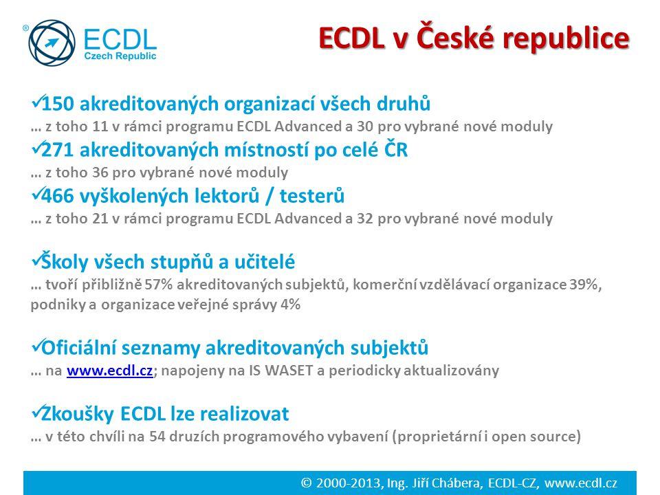 ECDL v České republice 150 akreditovaných organizací všech druhů