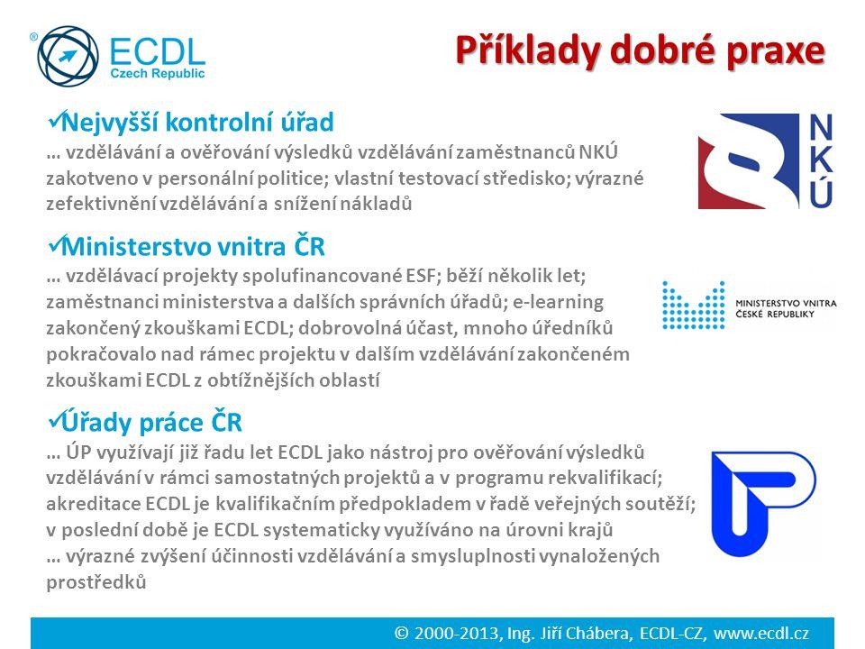 Příklady dobré praxe Nejvyšší kontrolní úřad Ministerstvo vnitra ČR