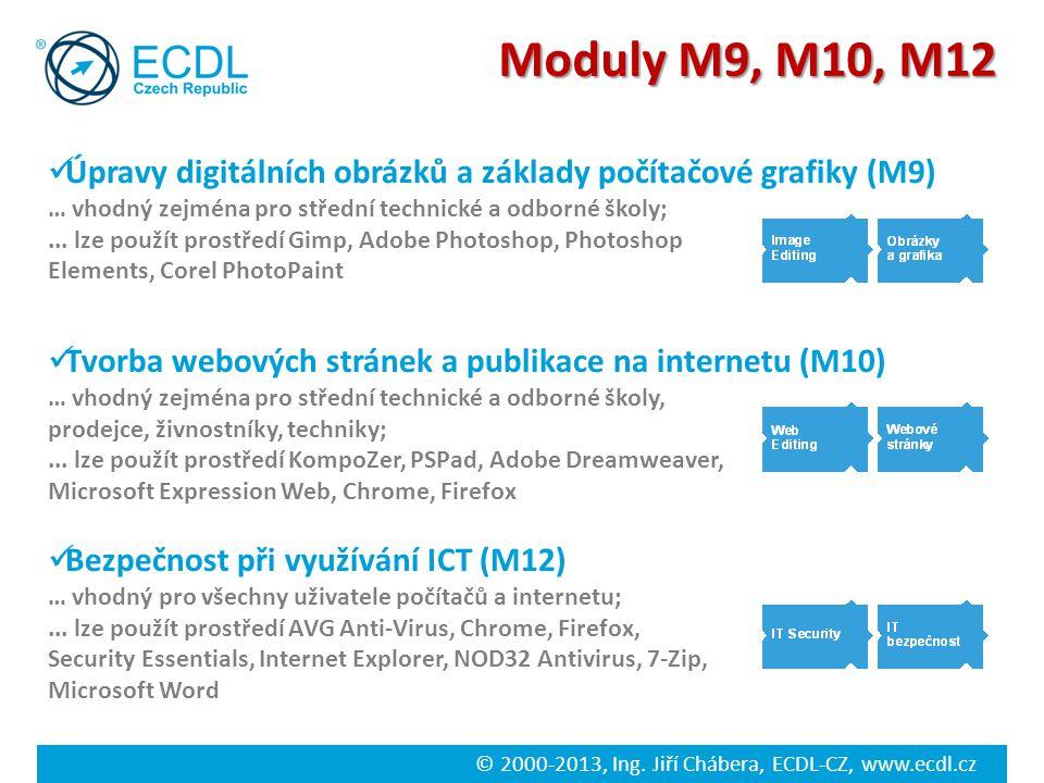 Moduly M9, M10, M12 Úpravy digitálních obrázků a základy počítačové grafiky (M9) … vhodný zejména pro střední technické a odborné školy;