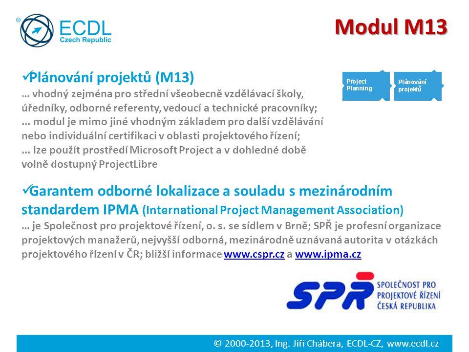 Modul M13 Plánování projektů (M13)