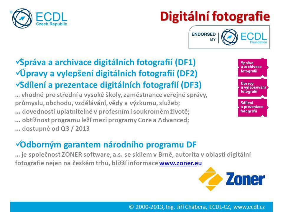 Digitální fotografie Správa a archivace digitálních fotografií (DF1)
