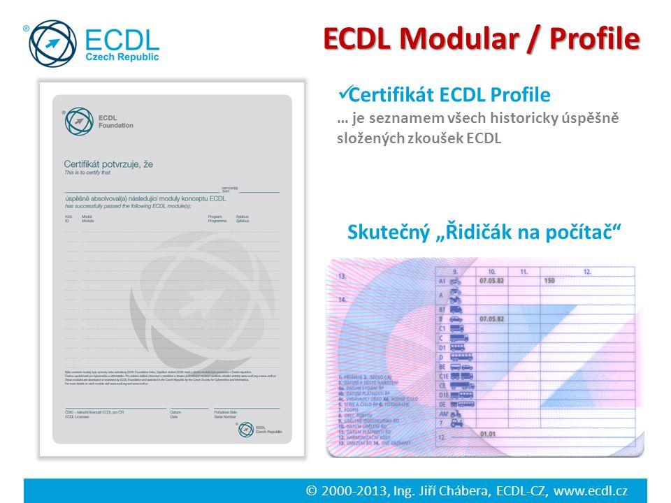 ECDL Modular / Profile Certifikát ECDL Profile