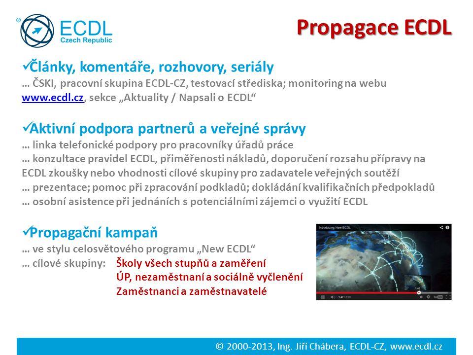 Propagace ECDL Články, komentáře, rozhovory, seriály