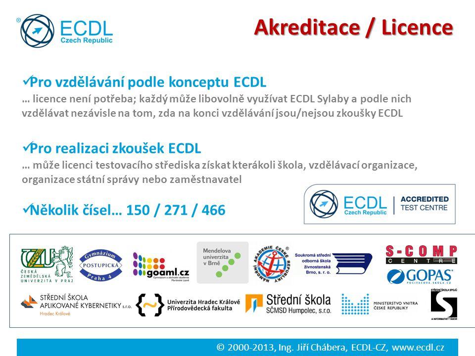 Akreditace / Licence Pro vzdělávání podle konceptu ECDL