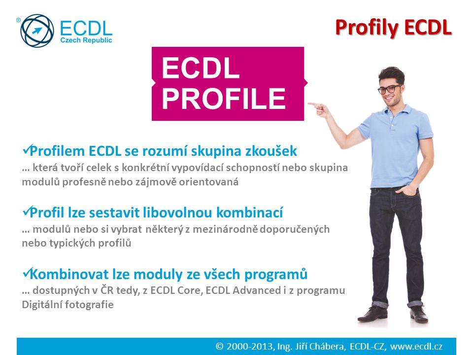 ECDL PROFILE Profily ECDL Profilem ECDL se rozumí skupina zkoušek