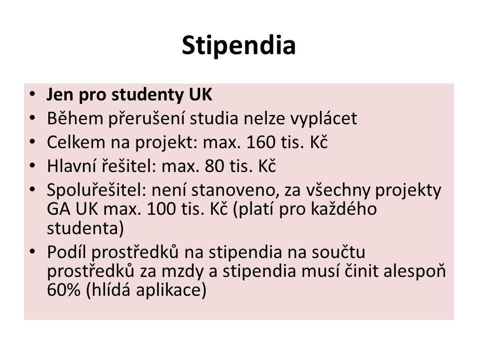 Stipendia Jen pro studenty UK Během přerušení studia nelze vyplácet
