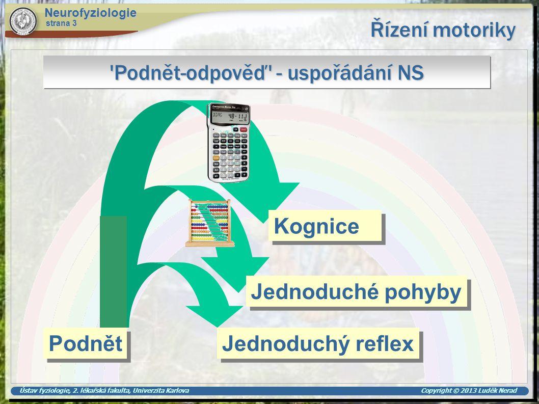 Podnět-odpověď - uspořádání NS