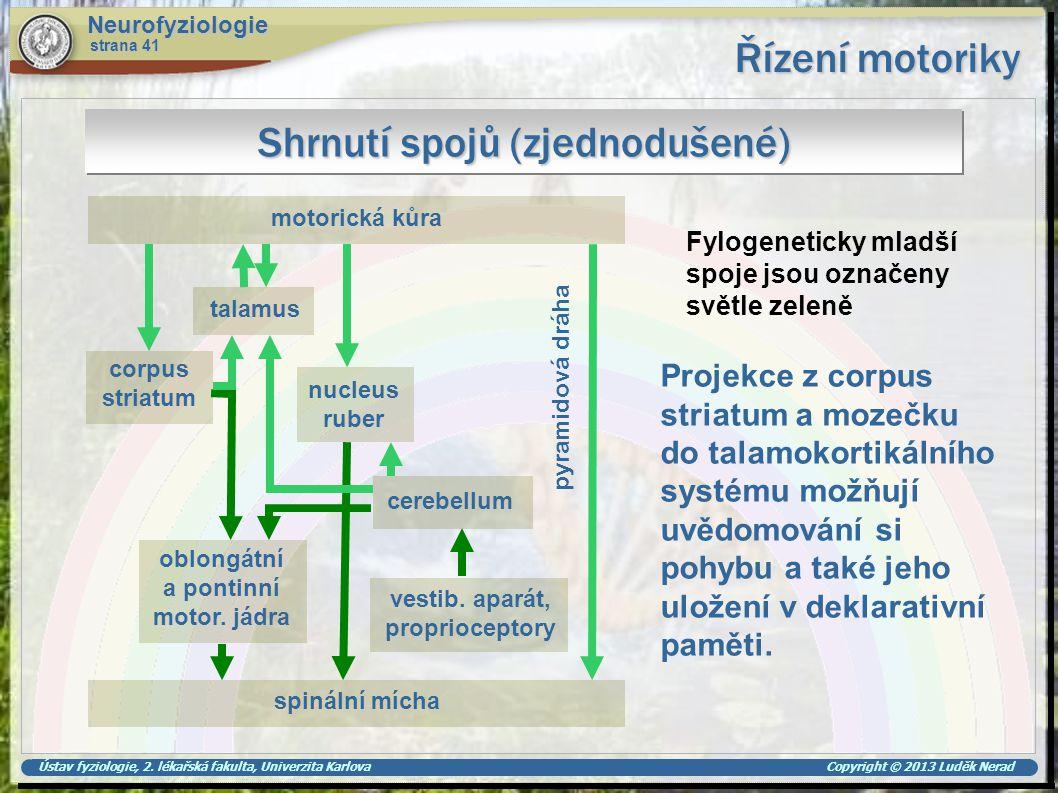 Shrnutí spojů (zjednodušené)