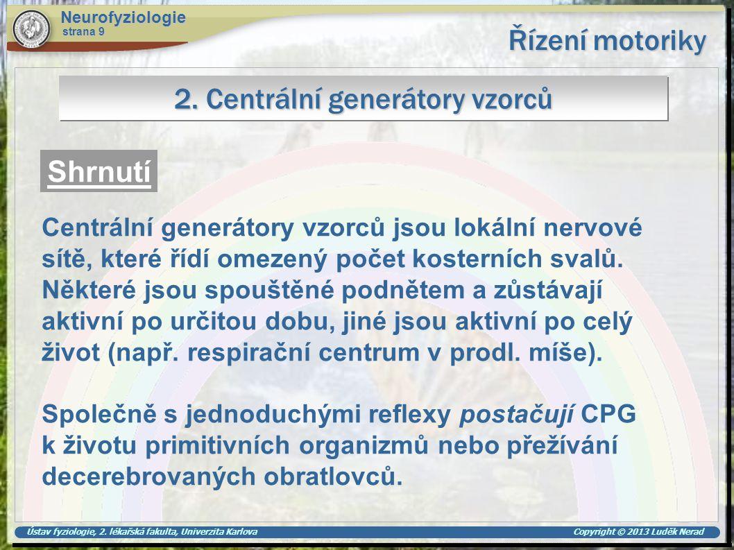 2. Centrální generátory vzorců