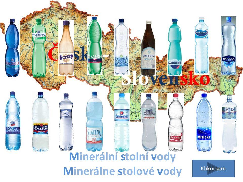 Minerální stolní vody Minerálne stolové vody