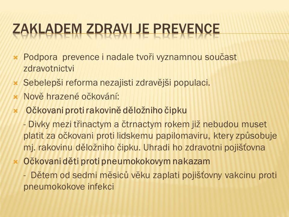 Zakladem zdravi je prevence
