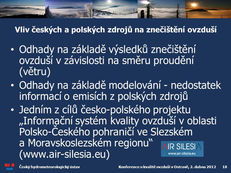Vliv českých a polských zdrojů na znečištění ovzduší