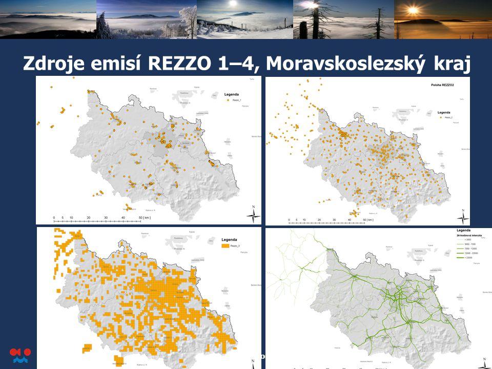 Zdroje emisí REZZO 1–4, Moravskoslezský kraj