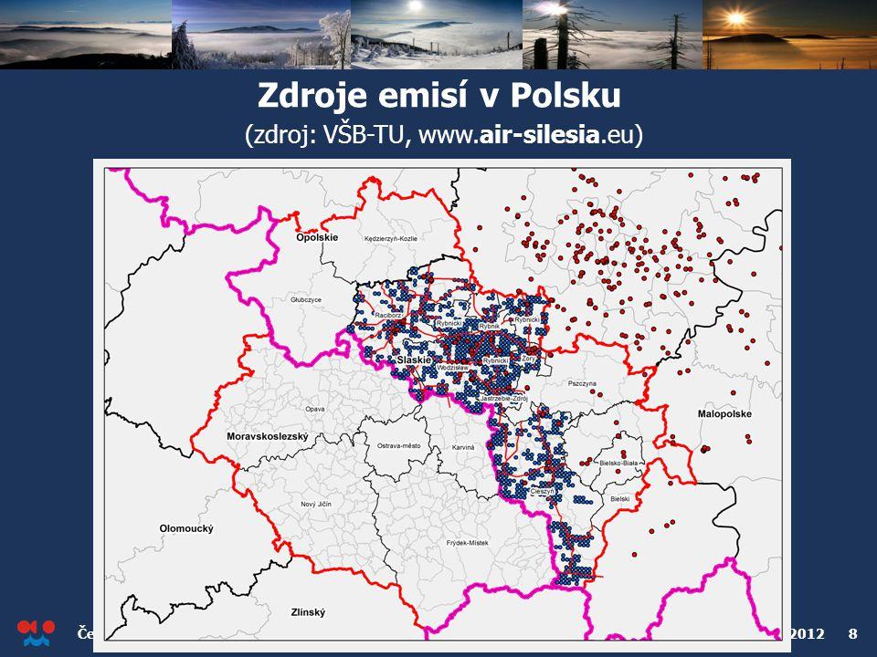 Zdroje emisí v Polsku (zdroj: VŠB-TU, www.air-silesia.eu)