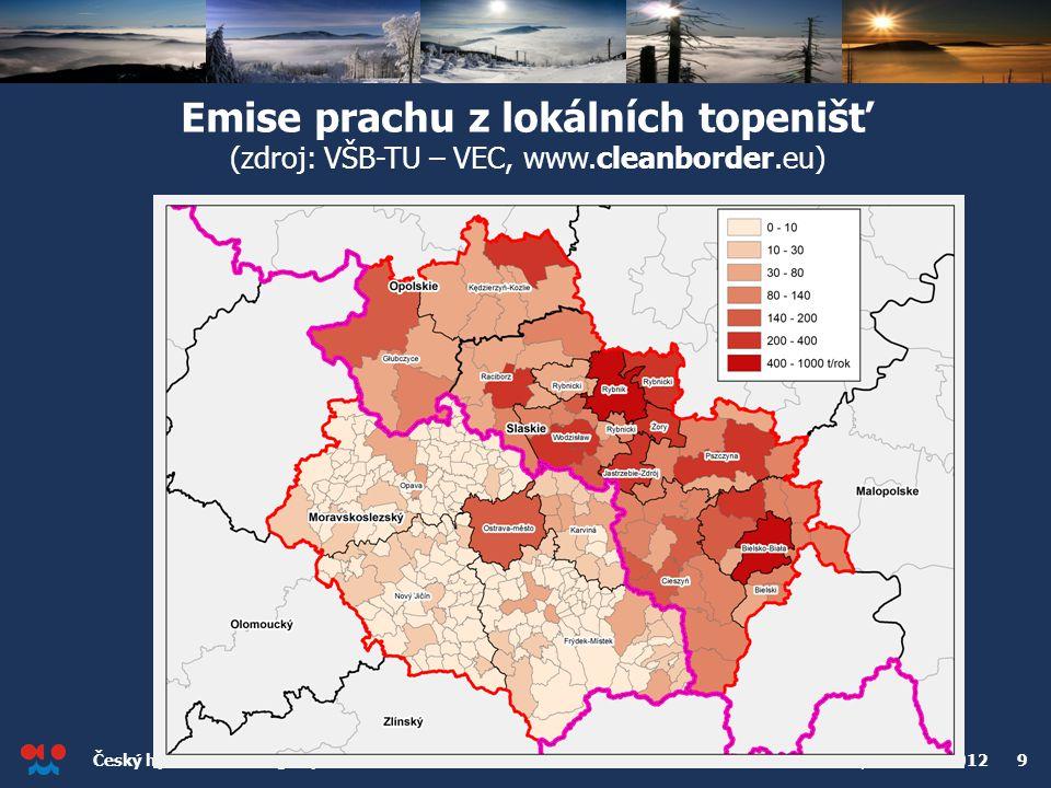 Emise prachu z lokálních topenišť (zdroj: VŠB-TU – VEC, www