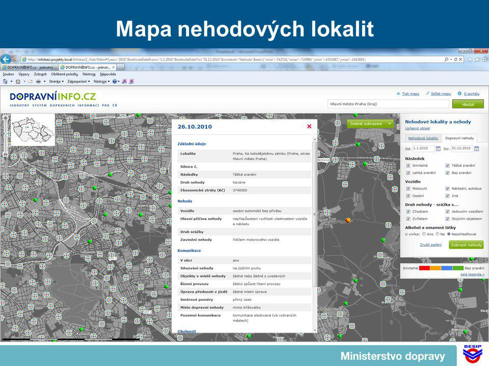 Mapa nehodových lokalit