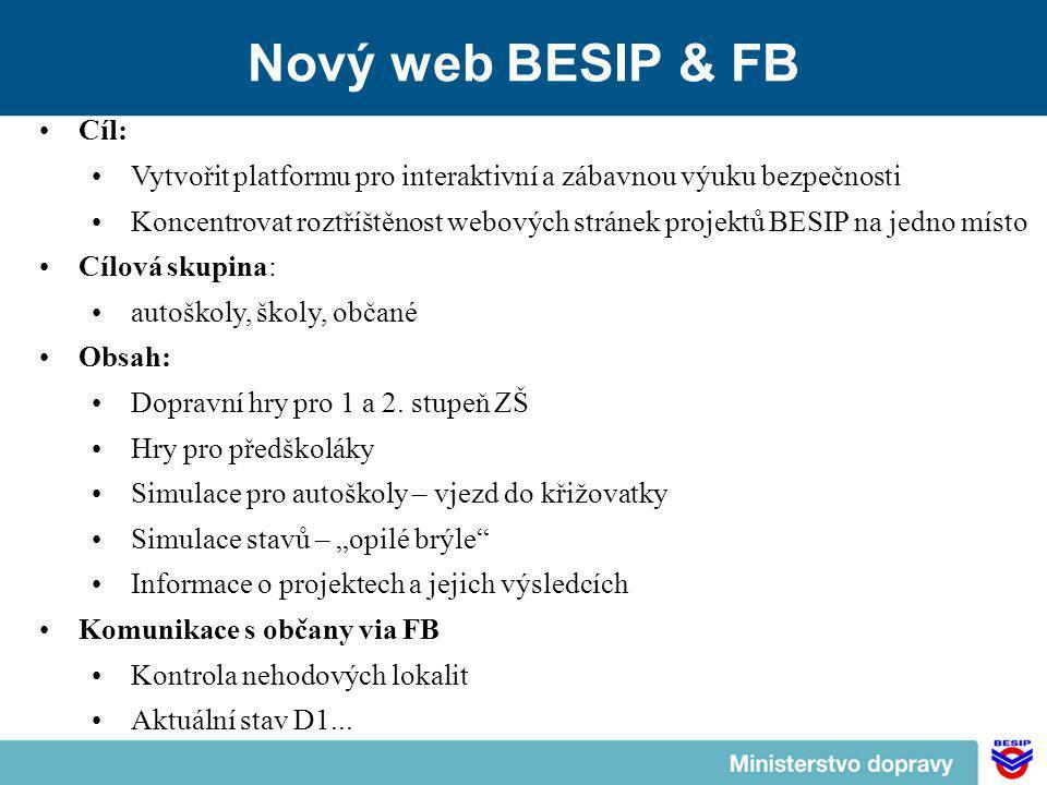 Nový web BESIP & FB Cíl: Vytvořit platformu pro interaktivní a zábavnou výuku bezpečnosti.