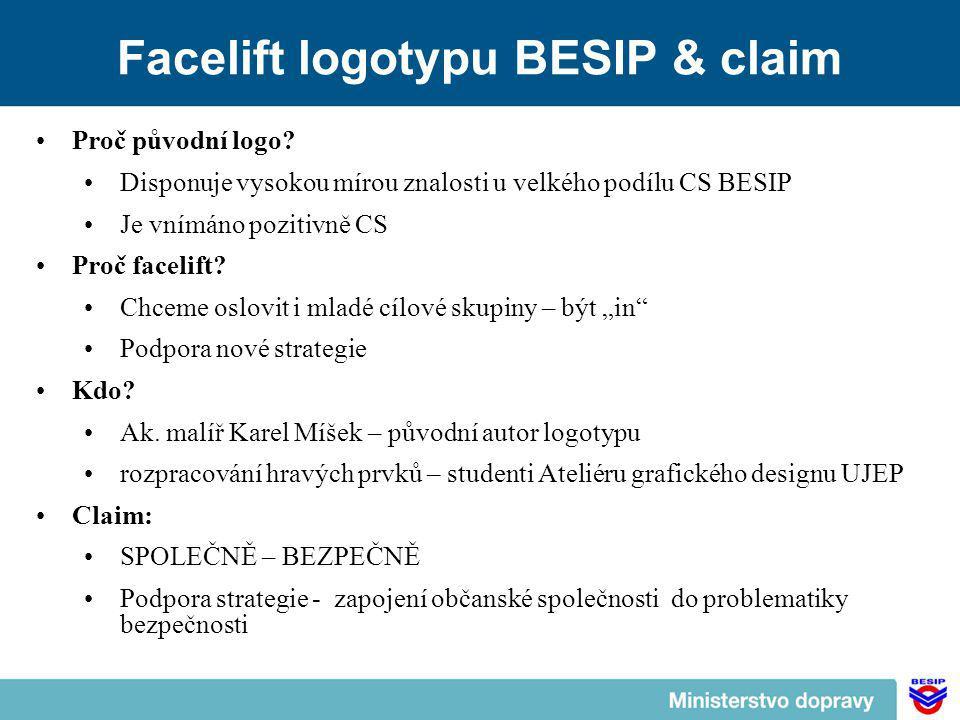 Facelift logotypu BESIP & claim