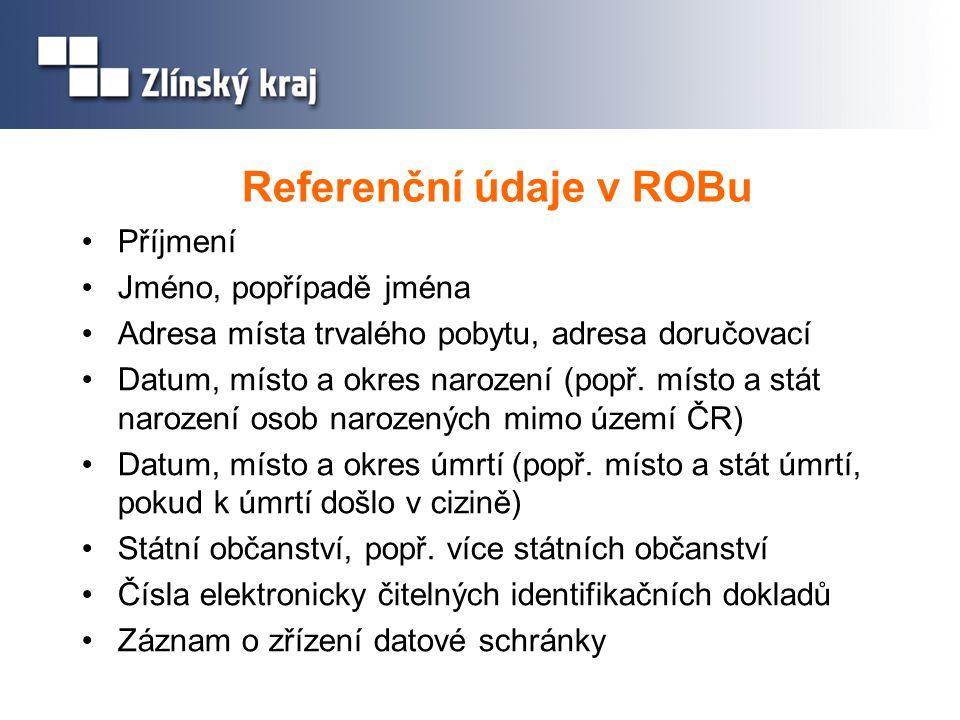 Referenční údaje v ROBu