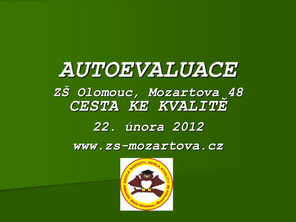 AUTOEVALUACE ZŠ Olomouc, Mozartova 48