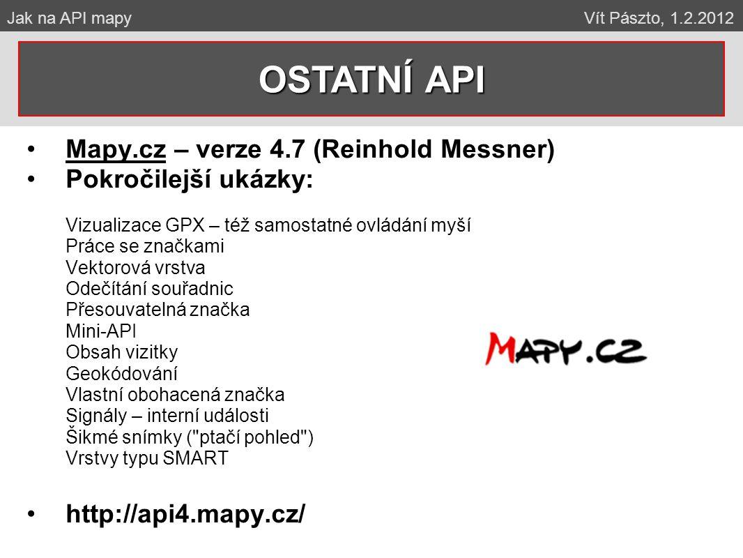 OSTATNÍ API Mapy.cz – verze 4.7 (Reinhold Messner)