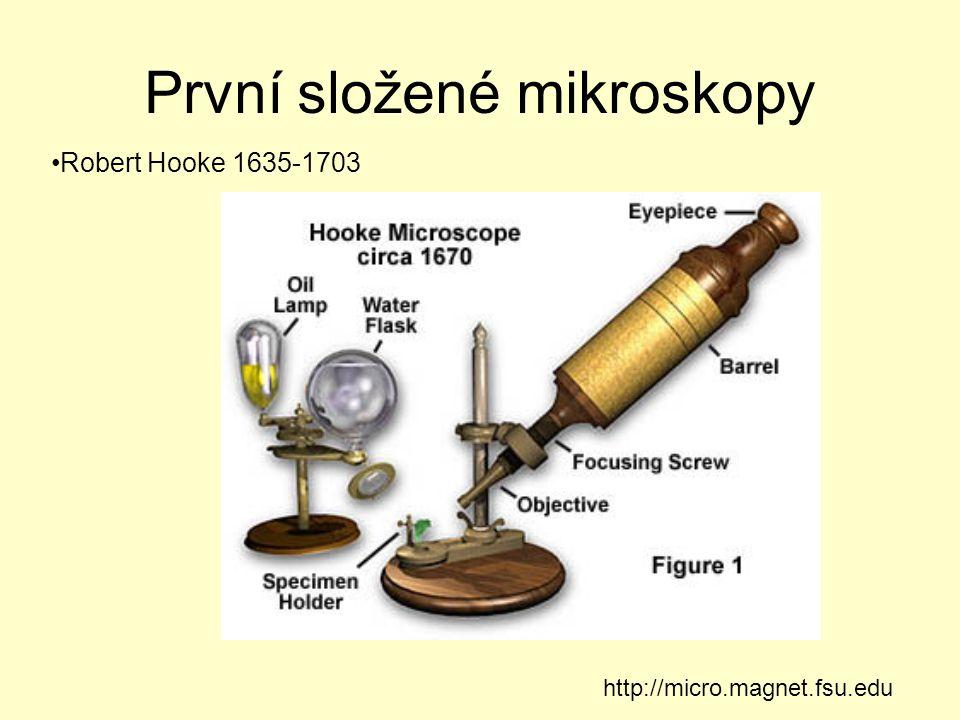 První složené mikroskopy