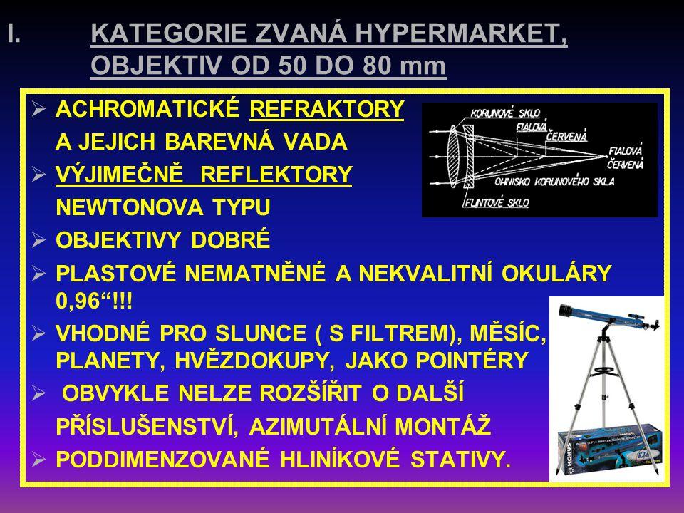 KATEGORIE ZVANÁ HYPERMARKET, OBJEKTIV OD 50 DO 80 mm