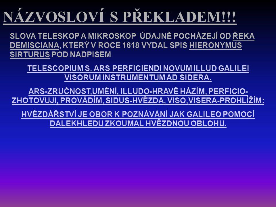 NÁZVOSLOVÍ S PŘEKLADEM!!!