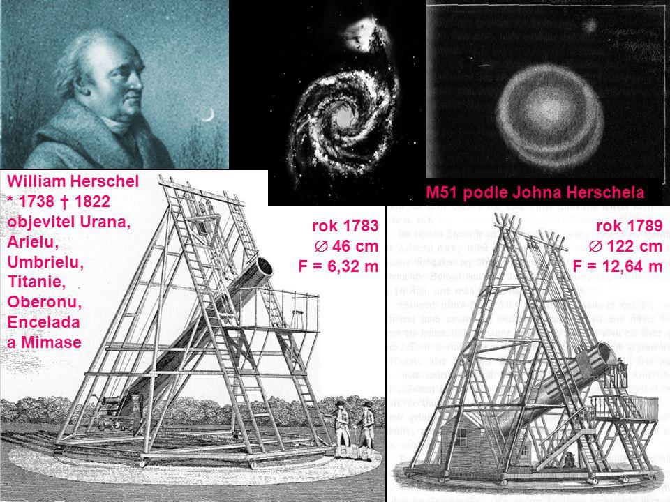 William Herschel * 1738 † 1822. objevitel Urana, Arielu, Umbrielu, Titanie, Oberonu, Encelada.