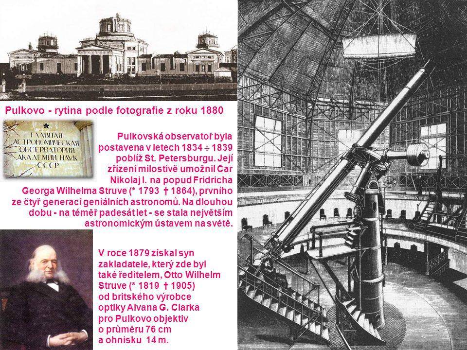 Pulkovo - rytina podle fotografie z roku 1880