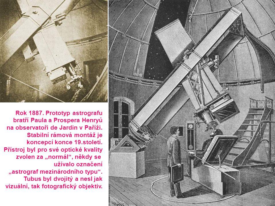 Rok 1887. Prototyp astrografu