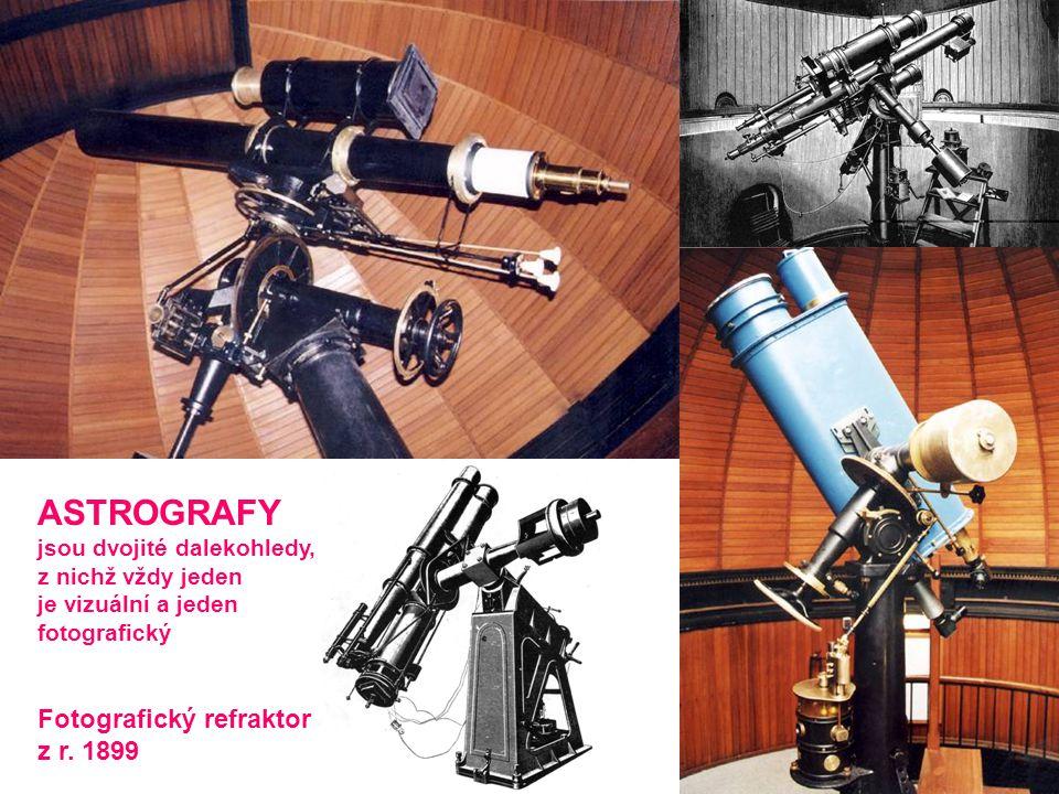 ASTROGRAFY Fotografický refraktor z r. 1899 jsou dvojité dalekohledy,