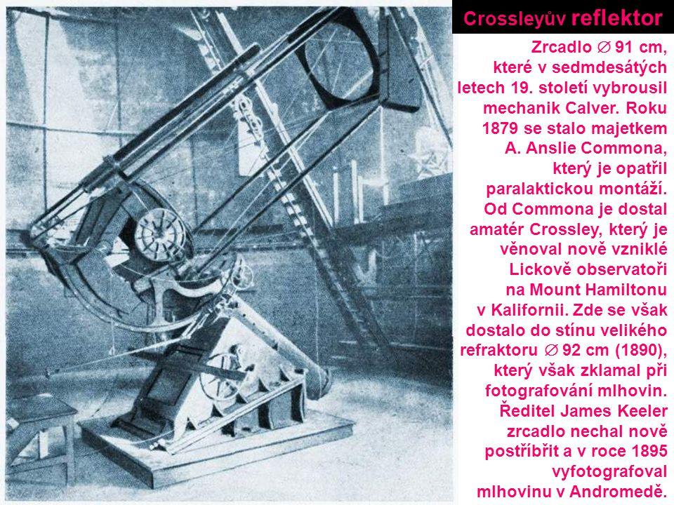 Crossleyův reflektor Zrcadlo  91 cm, které v sedmdesátých
