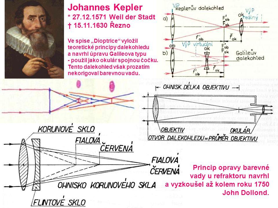 Johannes Kepler * 27.12.1571 Weil der Stadt † 15.11.1630 Řezno