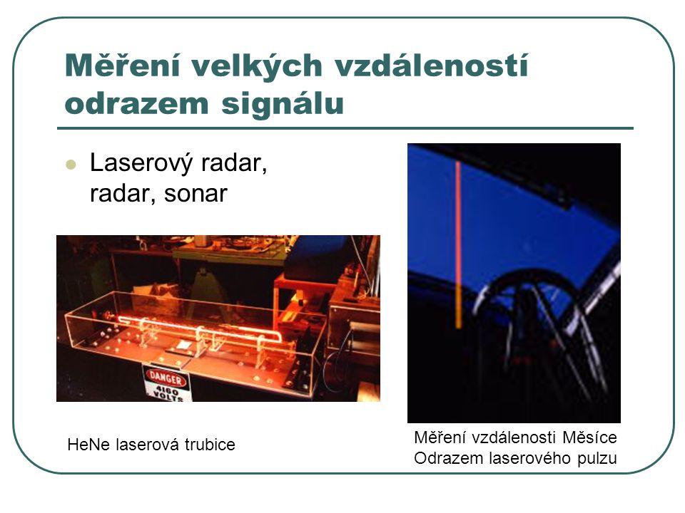 Měření velkých vzdáleností odrazem signálu